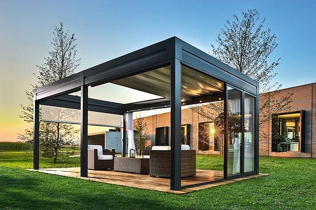 Outdoor summer decor ideas convertible structure