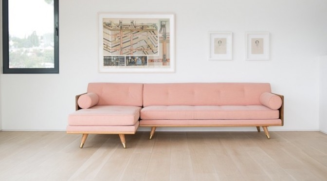 pink sofa trend