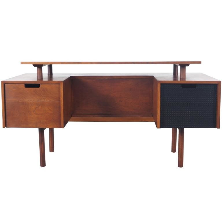 Milo Baughman floating desk