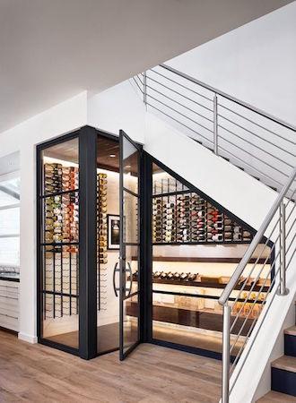Wine cellar stairs ideas