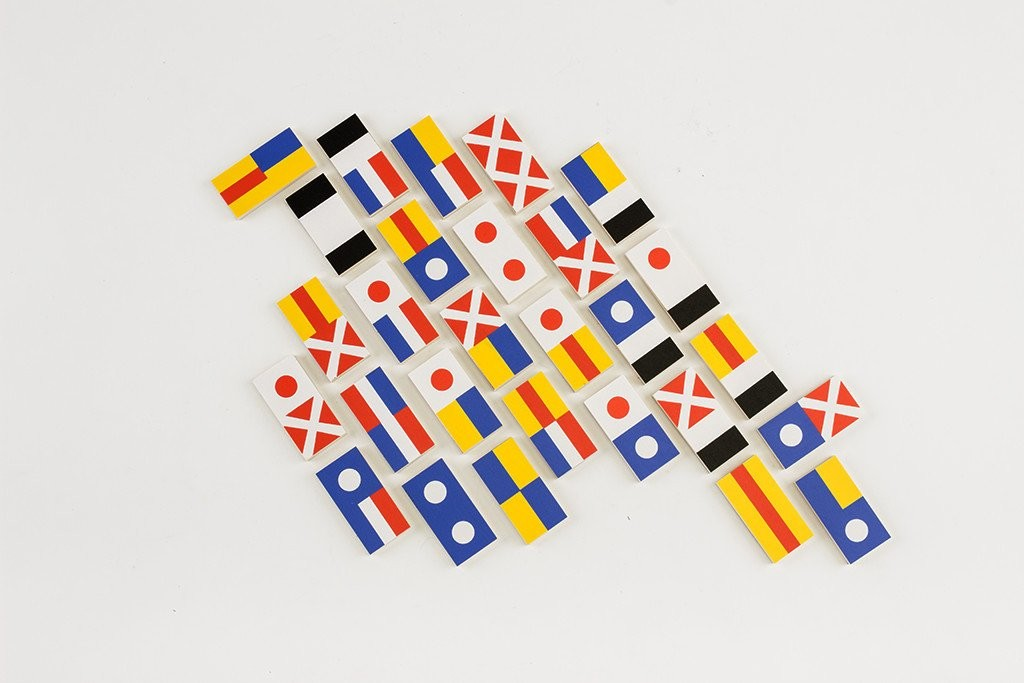 Fredericks and Mae Flag Dominos