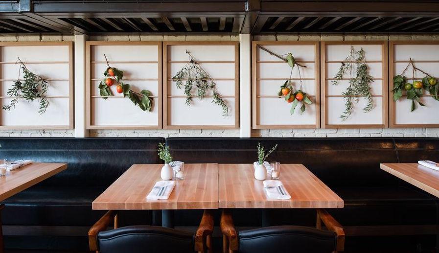 framed floral restaurant design