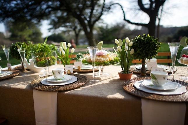 minimal garden summer party ideas