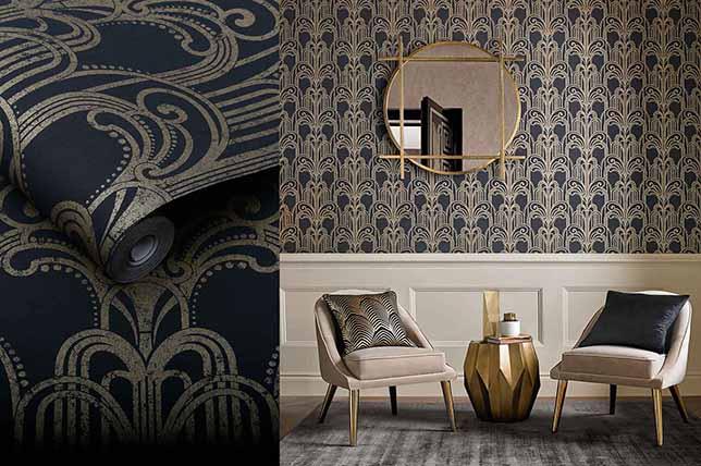 modern wallpaper interior design trends