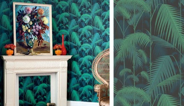 Palm fronds wallpaper