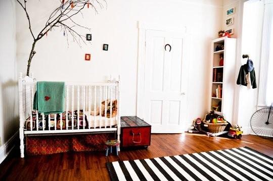 Graphic rug nursery