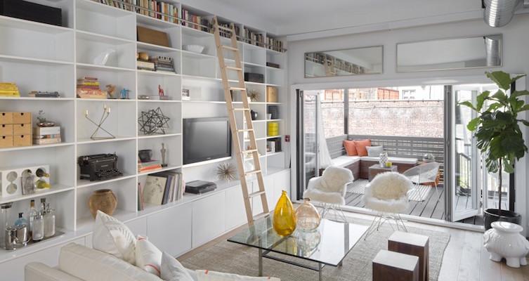 Hoboken townhouse living room design ideas