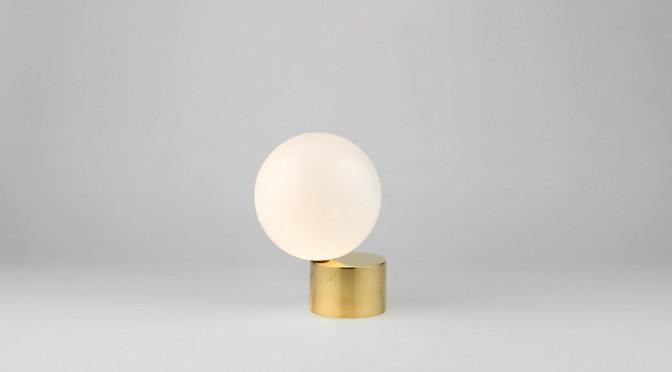 minimal globe lamp