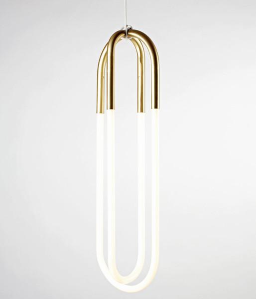 Brass tube pendant lamp