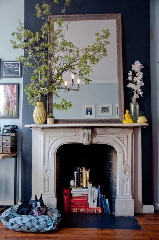 colorful mantelpiece boldly alive