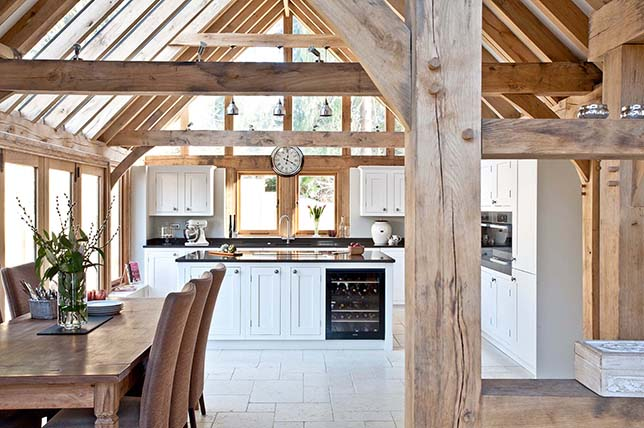 Design ideas for wood beam ceilings