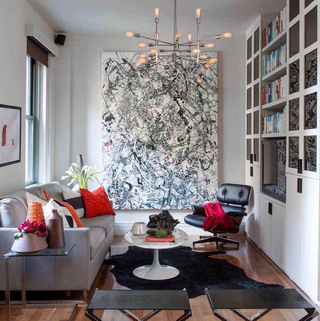 Decorate Around Large Art Pieces