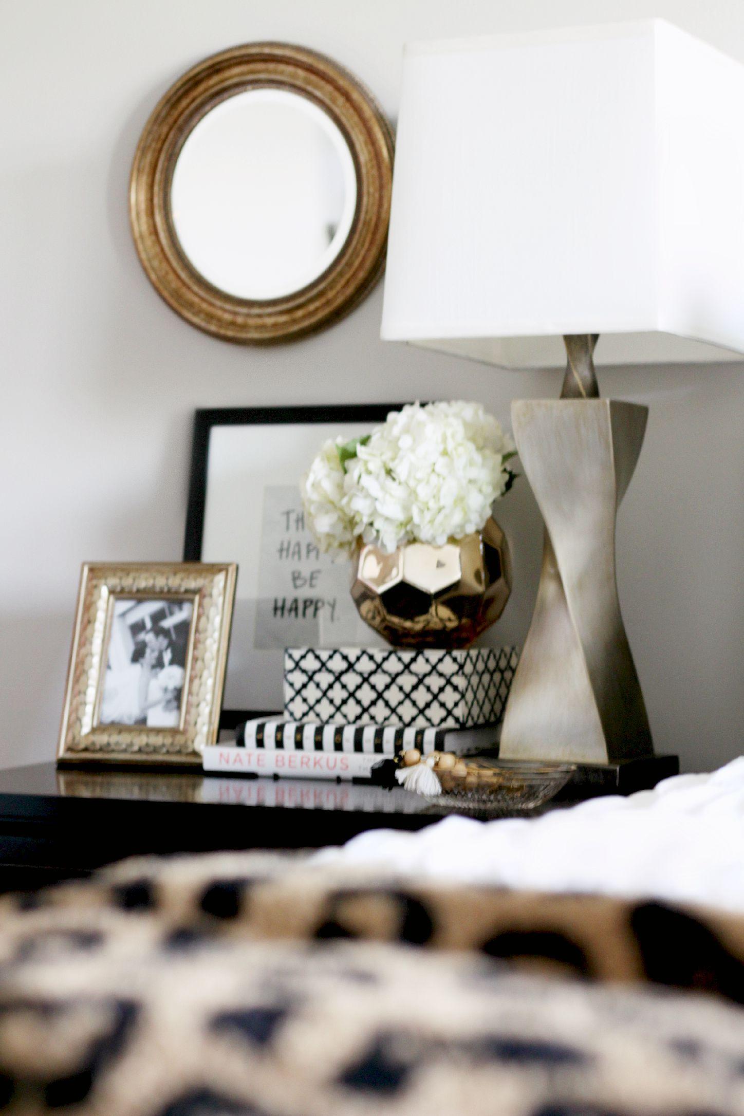 Decorating Bedside Table